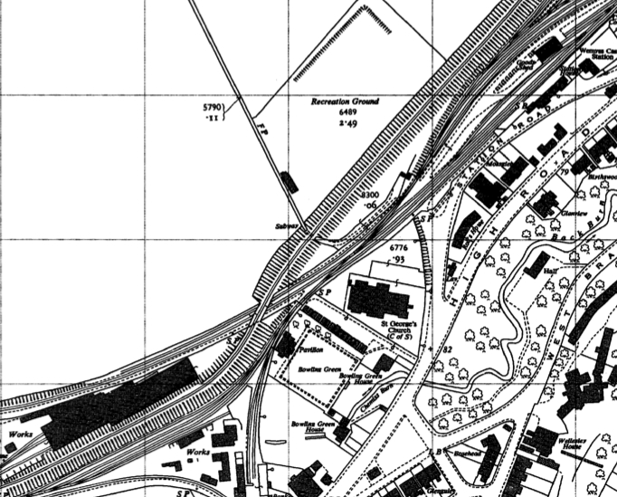 Wemyss Private Railway Track Plan  OS Map