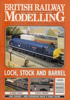 British Railway Modelling July 1997 - Wemyss Private Railway No. 15 in '0' Gauge highlighted in article on layout Brucetown