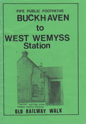 Old Railway Walk Booklet Wemyss Castle Station on Cover - local interest