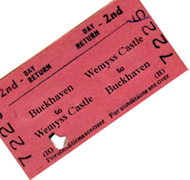 Wemyss Private Railway Mock Passenger Ticket